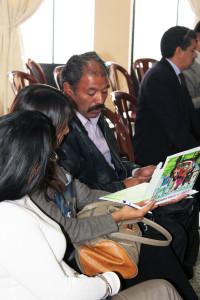 Mariano Sánchez, alcalde de Concepción Chiquirichapa, Quetzaltenango, participando en la apertura de la oficina regional.